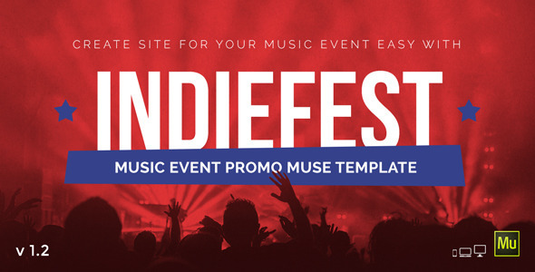 IndieFest – Music Event Promo Muse Template
