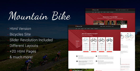 Mountain Bike – Bicycle and Bmx Sporting Template