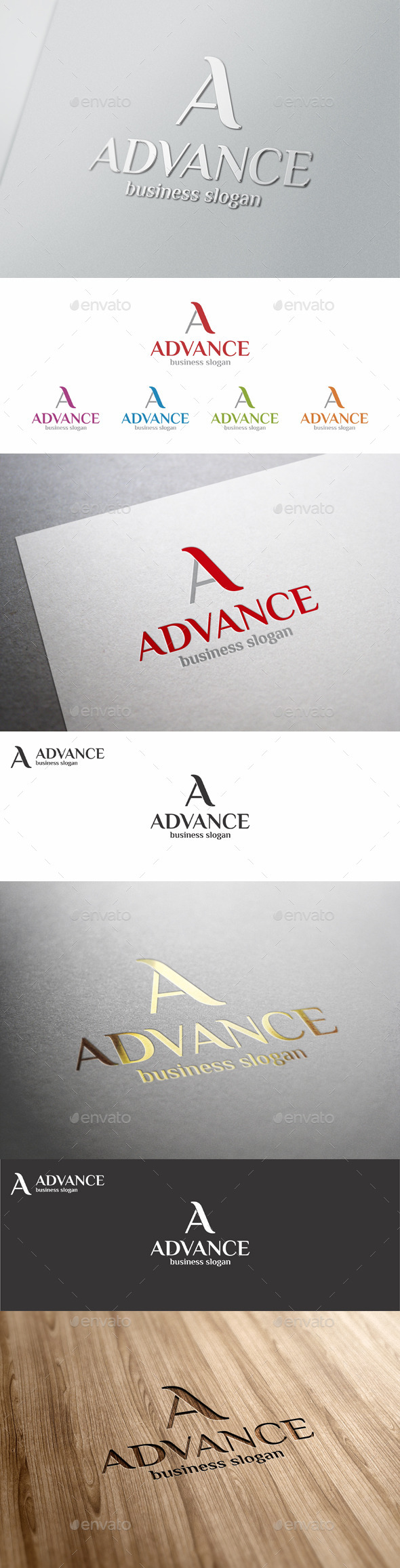A Logo Letter Template - Advance - Letters Logo Templates