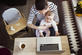 Young mother working from home - PhotoDune Item for Sale