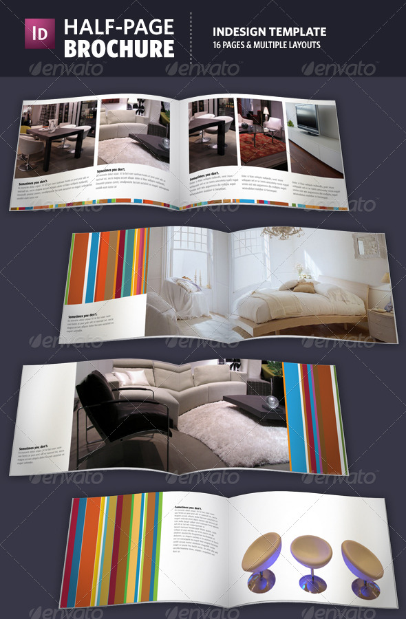 Half page brochure indesign template by adriennepalmer for Half page brochure template