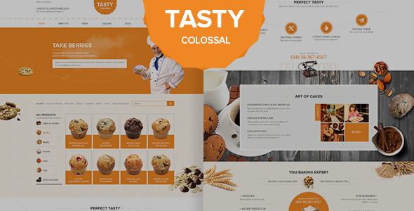 Tasty Psd Template - PSD Templates