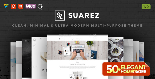 Suarez – Clean, Minimal & Modern Multi-Purpose Theme