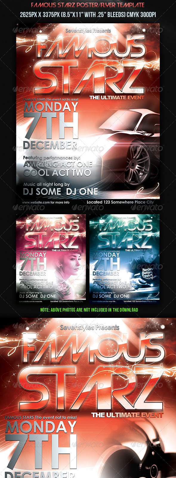Famous Starz Flyer/Poster Template. - Clubs & Parties Events