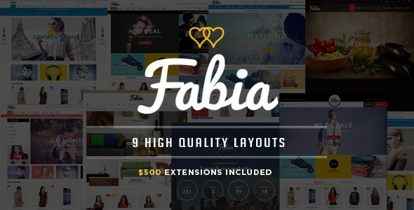 Fabia – Advanced Responsive Magento Theme