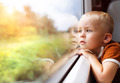 Little boy travelling in train - PhotoDune Item for Sale