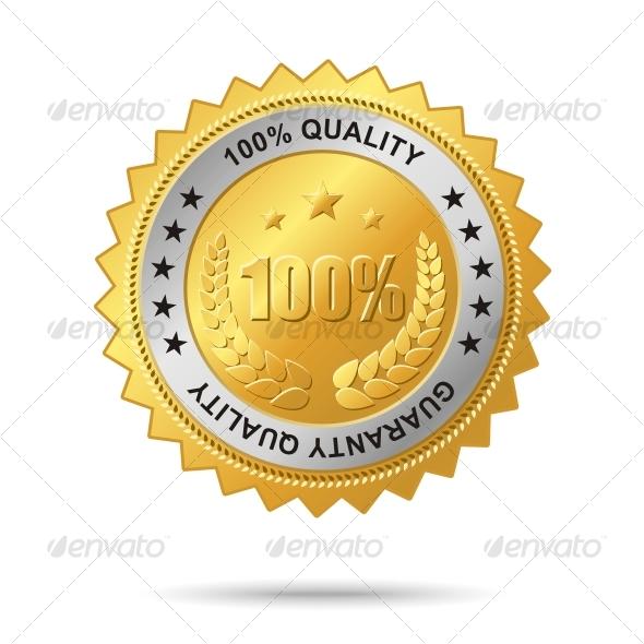 Guaranty_quality_golden_label - Decorative Symbols Decorative