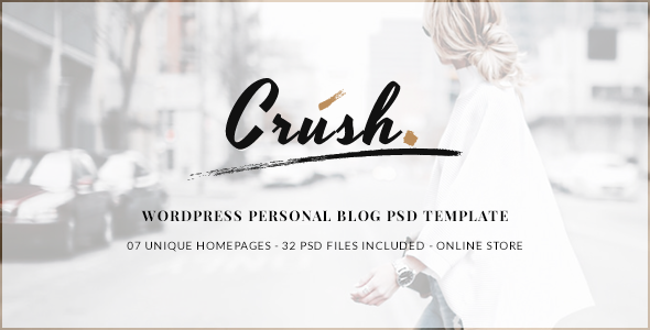 Crush – WordPress Personal Blog PSD Template