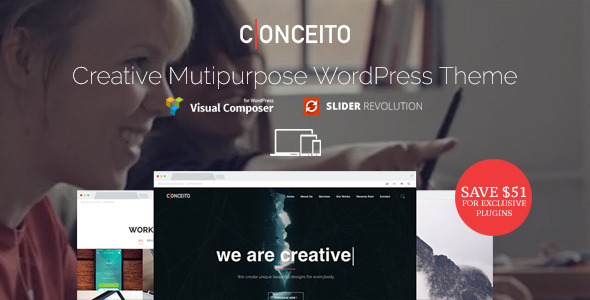 Conceito - Creative One Page Parallax WP Theme - Creative WordPress