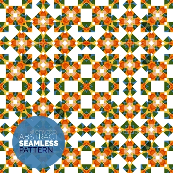 Vector Colorful Seamless Geometric Pattern. Modern - Abstract Conceptual