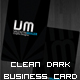 Dark Clean Business Card - GraphicRiver Item for Sale