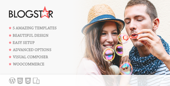 BlogStar - Creative WordPress Blog Theme - Personal Blog / Magazine