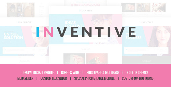 Inventive - Single & Multipage Drupal Theme - Creative Drupal