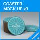 Coaster Mock-up 3 - GraphicRiver Item for Sale