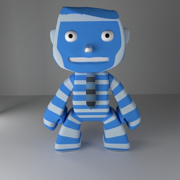 "Funny Character ""Bluemmy"" - 3DOcean Item for Sale"