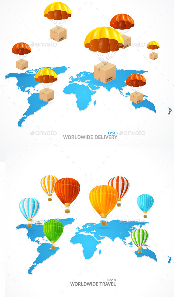 Concept of Shipping Around the World - Services Commercial / Shopping