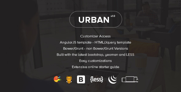 Urban – Responsive Admin Template + Customizer Access