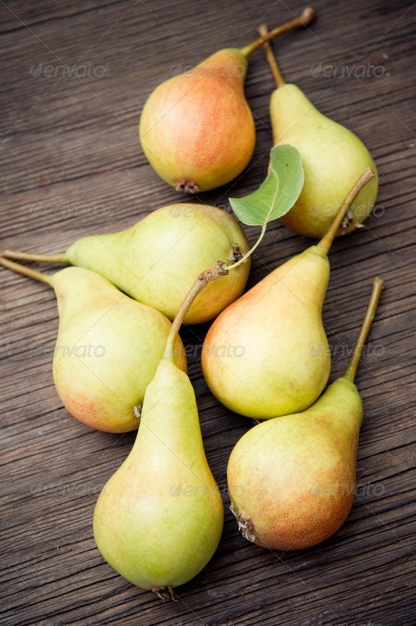 Organic pears - Stock Photo - Images