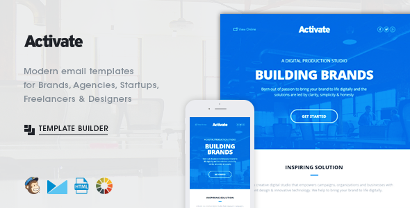 activation email template - activate modern emails online template builder by