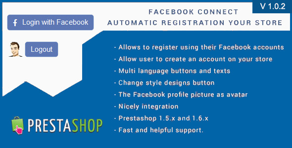 Facebook Connect for Prestashop, Login Button - CodeCanyon Item for Sale