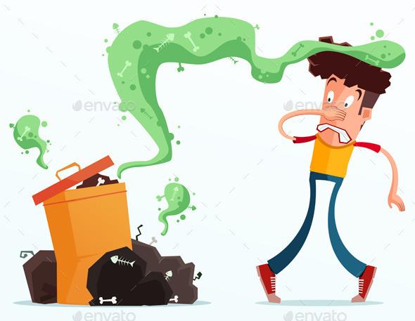 Stinky Garbage - Health/Medicine Conceptual