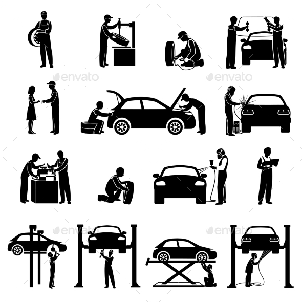 Mechanic Icons Black