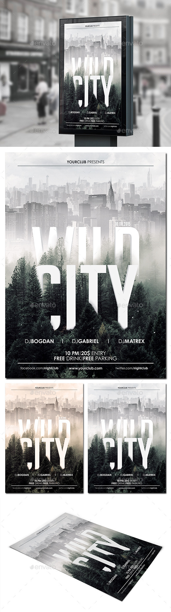Wild City Flyer Poster - Clubs & Parties Events