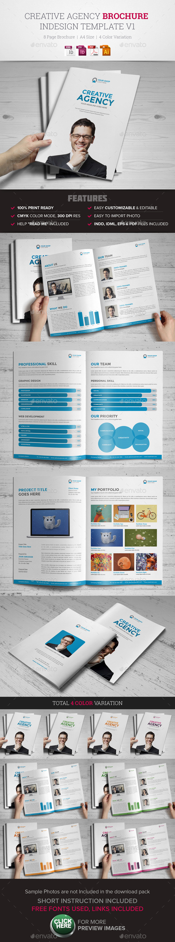 Creative Agency Brochure InDesign Template v1 - Corporate Brochures