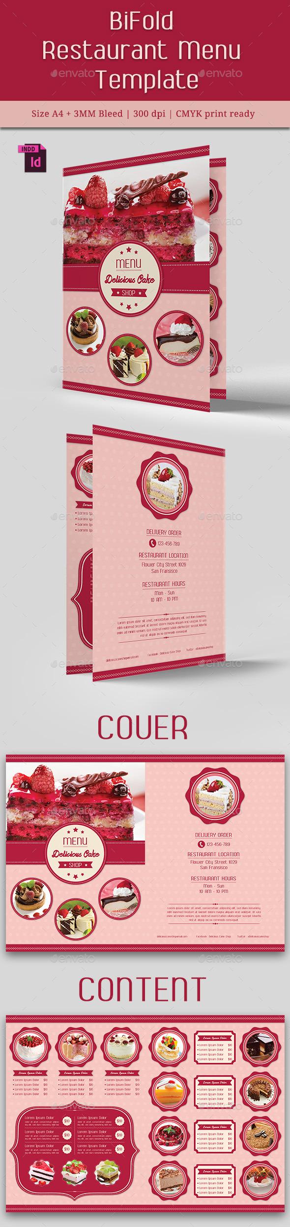 Cake Menu Graphics Designs Templates From Graphicriver