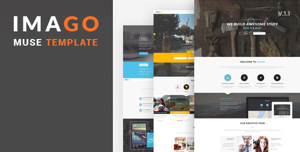 Imago - Multipurpose Muse Template - Corporate Muse Templates