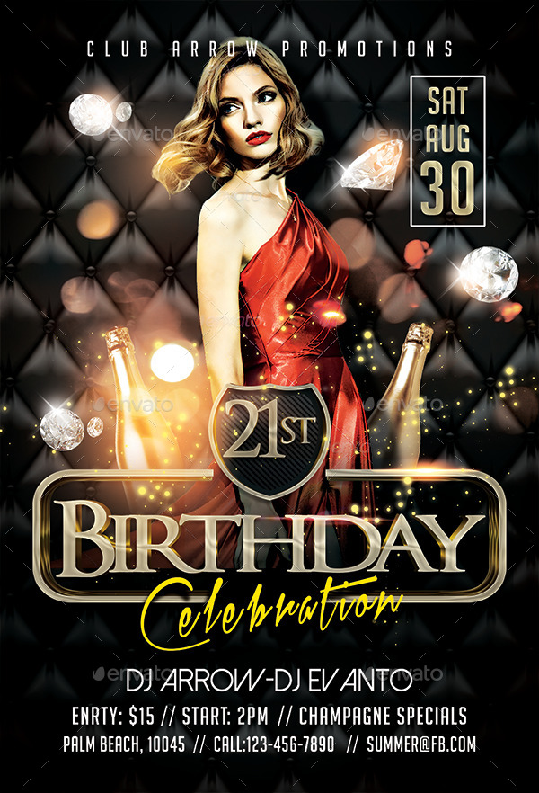Birthday Celebration Flyer Template By Arrow  Graphicriver
