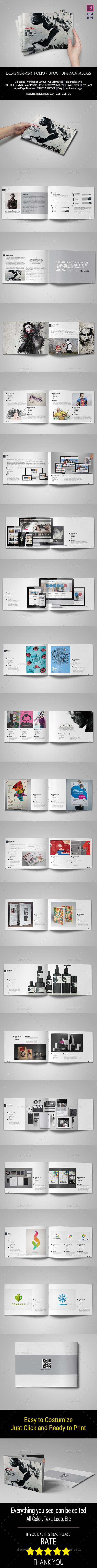 A5 Graphic Designer Portfolio - Portfolio Brochures