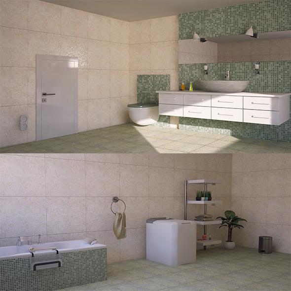 interior bathroom  - 3DOcean Item for Sale