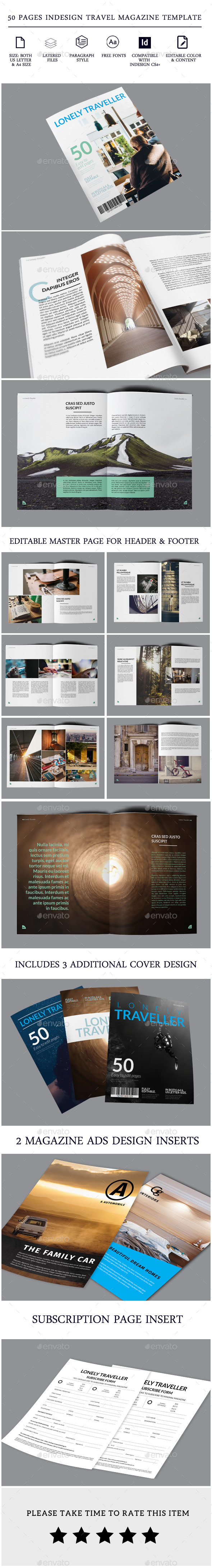 Travel Magazine -50 pages Indesign Template - Magazines Print Templates
