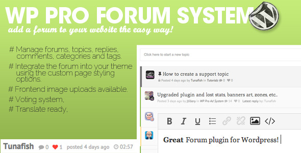 WP Pro Forum System - CodeCanyon Item for Sale