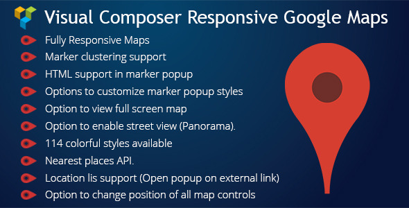 Visual Composer Responsive Google Maps - CodeCanyon Item for Sale