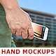 Smartphone in Hand Mockup - GraphicRiver Item for Sale