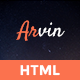 Arvin - Multipurpose One Page Template - ThemeForest Item for Sale