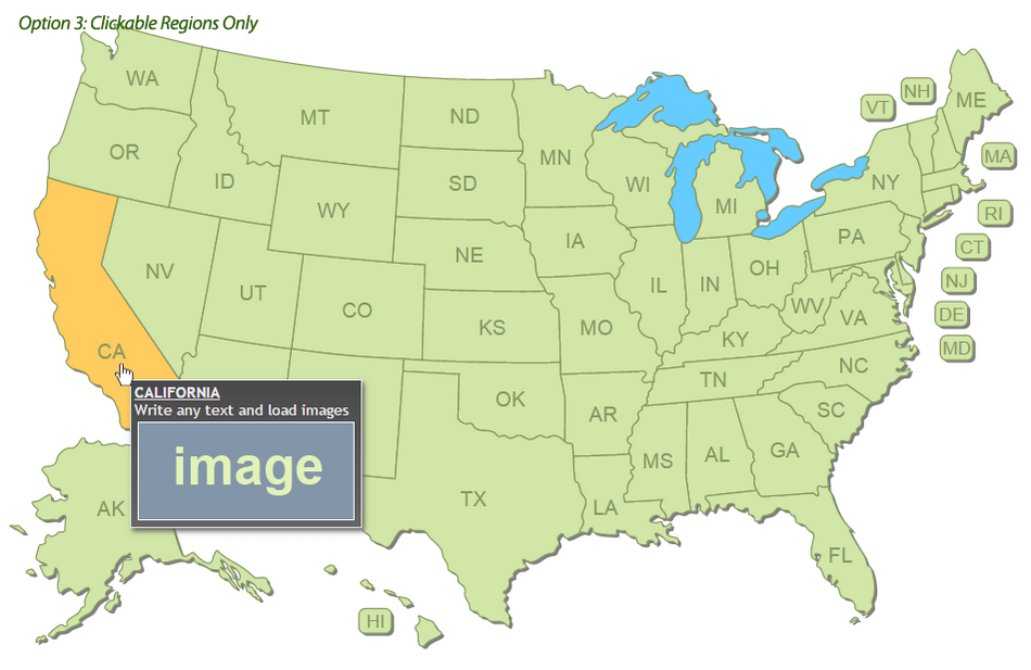 Interactive US Map Clickable States Cities by Art101 CodeCanyon