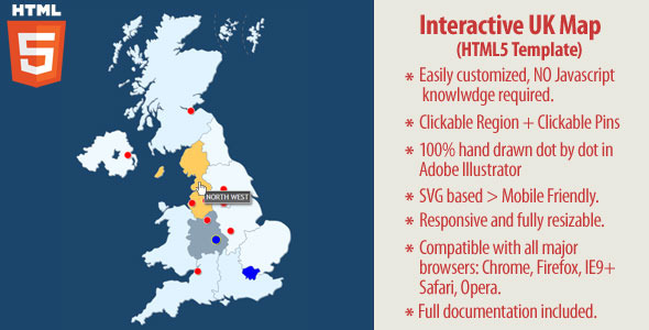 Interactive UK Map - HTML5 Nulled Scripts