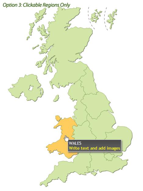 Interactive UK Map HTML By Art CodeCanyon - United kingdom clickable map
