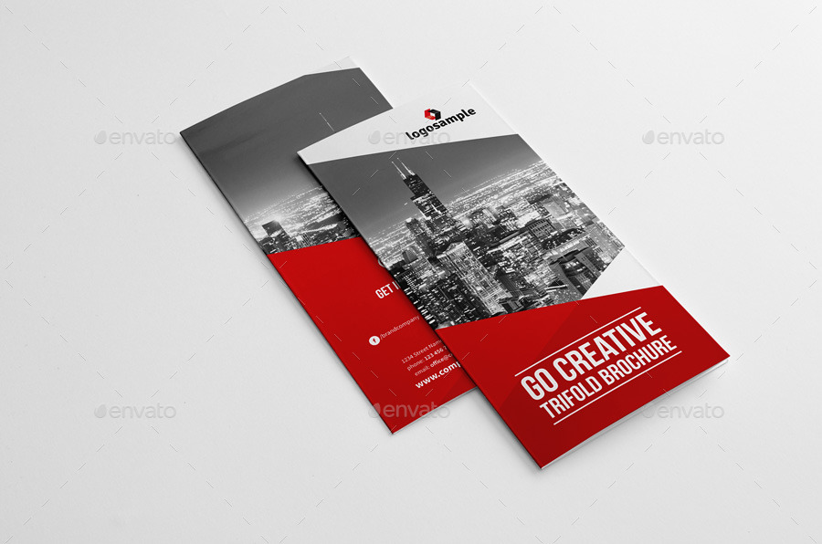 Go Creative Trifold Brochure By Snowboy | Graphicriver