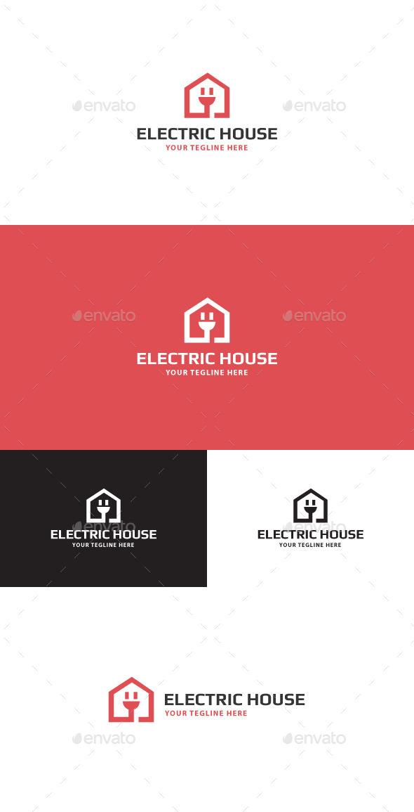 electric house logo by danilich