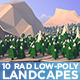 Low Poly - 10 Super Rad Landscapes - GraphicRiver Item for Sale