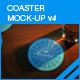 Coaster Mock-up 4 - GraphicRiver Item for Sale
