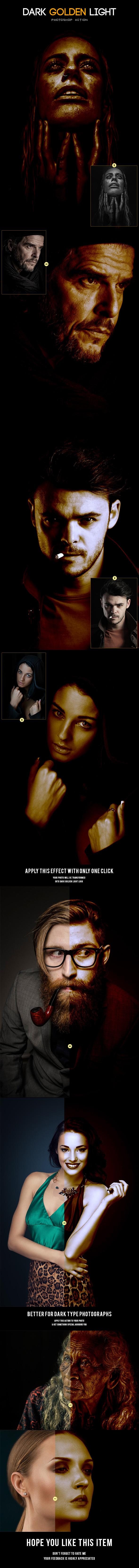 Dark Golden Light - Photo Effects Actions