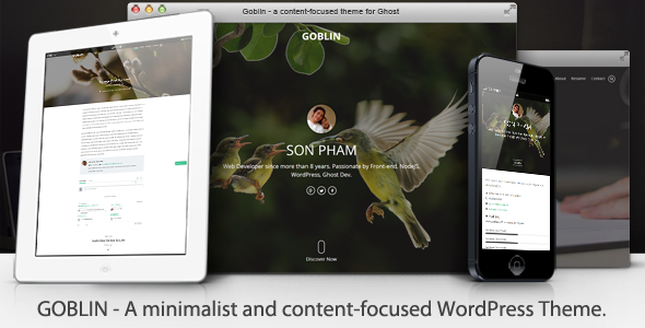 Goblin - Content-Focused WordPress Theme - Personal Blog / Magazine