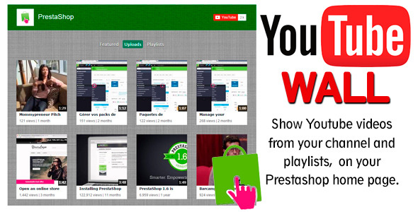 YoutubeWall Prestashop module - CodeCanyon Item for Sale