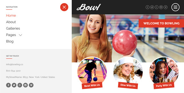 BOWL – Responsive Bowling Center HTML Template