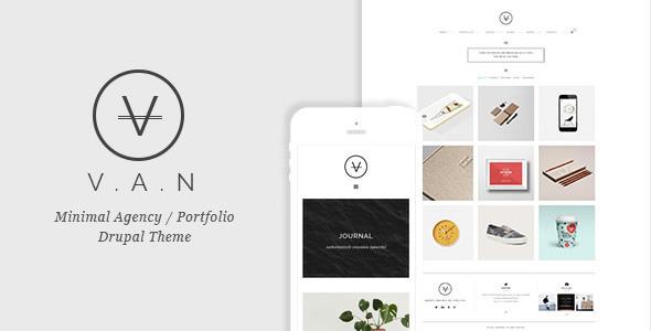 VAN – Minimal Agency / Portfolio Drupal Theme